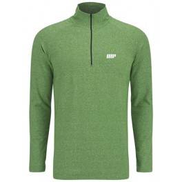 MyProtein Camiseta Performance Manga Larga 1/4 Zip Top - Green Marl