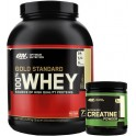 Pack Optimum Nutrition 100% Whey Gold Standard 5 Lbs (2,27 Kg) + Creatina Powder 144 gr