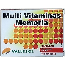 Vallesol Multi Vitaminas Memoria 40 caps