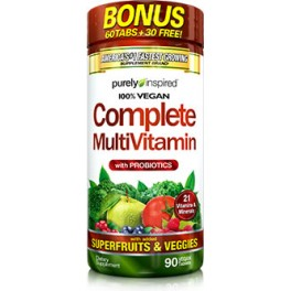 Purely Inspired 100 % Vegan Complete MultiVitamin 90 tabs