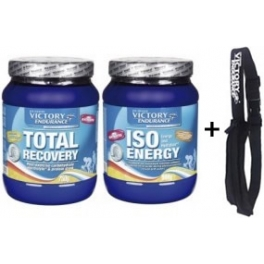 Pack Victory Endurance Total Recovery 750 gr + Iso Energy 900 gr + Cinturon con Bolsillo