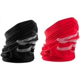 Pack Compressport 3D Thermo Ultraligero Headtube Rojo +  Pack Compressport 3D Thermo Ultraligero Headtube Negro