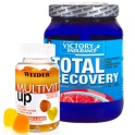 Pack Victory Endurance Total Recovery 1250 gr + Weider Multivit UP Gummies - Multivitaminico 80 Gominolas