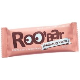 Roo Bar Mulberry & Vanilla Snack Bar Organic 30 gr