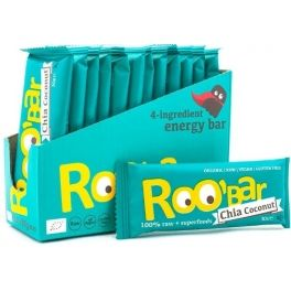 Roo Bar Chia & Coconut Snack Bar Organic 12 barritas x 30 gr