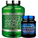 Pack Scitec Nutrition 100% Whey Isolate con L-Glutamina adicional 2 kg + Scitec Nutrition Amino Magic 500 gr