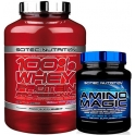 Pack Scitec Nutrition 100% Whey protein Professional 2,35 kg + Scitec Nutrition Amino Magic 500 gr