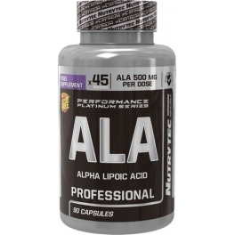 Nutrytec ALA - Alpha Lipoic Acid (Performance Platinum) 90 caps