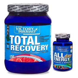 Pack Victory Endurance Total Recovery 1250 gr + All Day Energy 90 caps