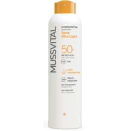 Mussvital Spray Ultra Light Fotoprotector Solar SPF 50+ 150 ml