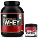 Pack Optimum Nutrition 100% Whey Gold Standard 5 Lbs (2,27 Kg) + Amino Energy 90 gr