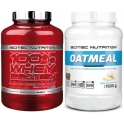 Pack Scitec Nutrition 100% Whey protein Professional 2,35 kg + Oatmeal - Harina de Avena 1500 gr
