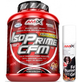 Pack Amix IsoPrime CFM Isolate 2 kg + Fat Burner Gel 75 ml