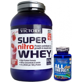 Pack Victory Super Nitro Whey 2.2 kg + Victory Endurance All Day Energy 90 caps