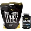 Pack BigMan Multi-Phase Whey 2,26 kg (5 Lbs) + BCAA+ 90 caps
