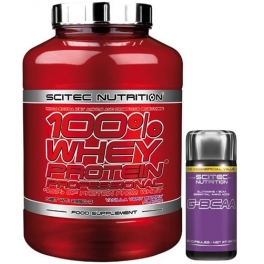 Pack Scitec Nutrition 100% Whey protein Professional 2,35 kg + G-BCAA 60 caps