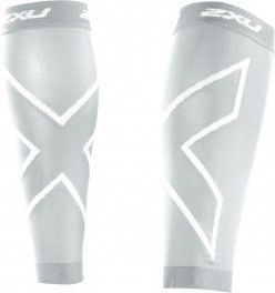 2XU Medias de Compression Calf Sleeves Punto Unisex Blanco