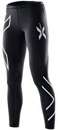 Malla larga 2XU Compression Tights Negro Logo Plata Mujer