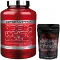 Pack Scitec Nutrition 100% Whey protein Professional 2,35 kg + Hot Blood 3.0 100 gr