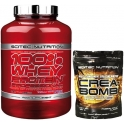 Pack Scitec Nutrition 100% Whey protein Professional 2,35 kg + Crea-Bomb 120 gr