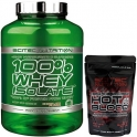 Pack Scitec Nutrition 100% Whey Isolate con L-Glutamina adicional 2 kg + Hot Blood 3.0 100 gr