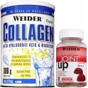 Weider Collagen - Colageno con Acido Hialuronico y Magnesio 300 gr + Joint Up Gummies 36 Gominolas