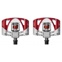 Crank Brothers Pedales Mallet 3 Raw - Rojo NVR