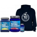 Pack Victory Endurance Total Recovery 1250 gr + Iso Energy 900 gr + All Day Energy 90 caps + Sudadera Hombre - Azul Marino