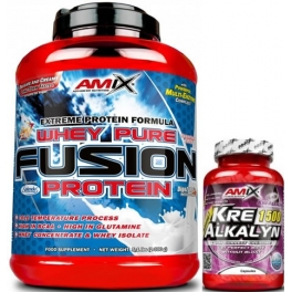 Pack Amix Whey Pure Fusion 2,3 kg + Kre-Alkalyn 30 caps