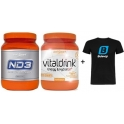 Pack InfiSport ND3 800 gr + Vitaldrink 800 gr + Camiseta Exclusiva Bulevip