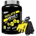 Pack Best Protein Isolate Whey 2,5 kg + Guantes Fitness Amarillos