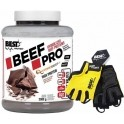 Pack Best Protein Beef Pro 2000 gr + Guantes Fitness Amarillo