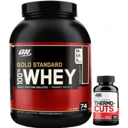 Pack Optimum Nutrition 100% Whey Gold Standard 5 Lbs (2,27 Kg) + Thermo-Cuts 40 caps