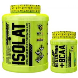 Pack 3XL Pure Isolate 2 kg + Pure Glutamine + BCAA 300 gr