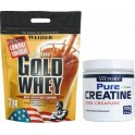 Pack Weider Gold Whey 2 kg + Pure Creatina (100% Creapure) 100 gr