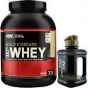 Pack Optimum Nutrition 100% Whey Gold Standard 5 Lbs (2,27 Kg) + Botella Gold Standard Zone 1,8 L