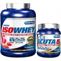 Pack Quamtrax IsoWhey 2267 gr + Gluta 5 Formato Exclusivo 300 gr