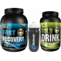 Pack Gold Nutrition Gold Drink 1 kg + Fast Recovery 1 kg + Bidon 800 ml