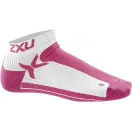 2XU Calcetines Mujer Performance Low Rise Blanco Coral
