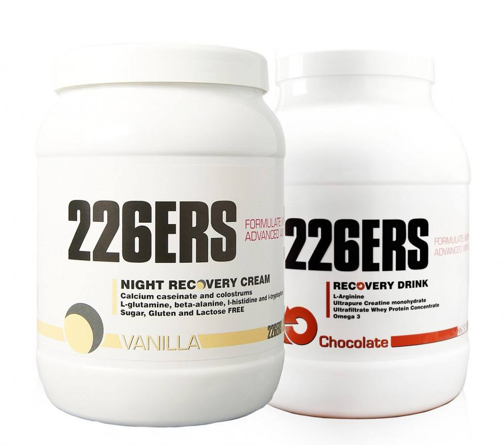 226ers recovery drink vs night recovery cream