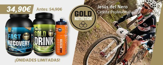 Gold Nutrition Pack Gold Drink y Fast Drink con Botellin